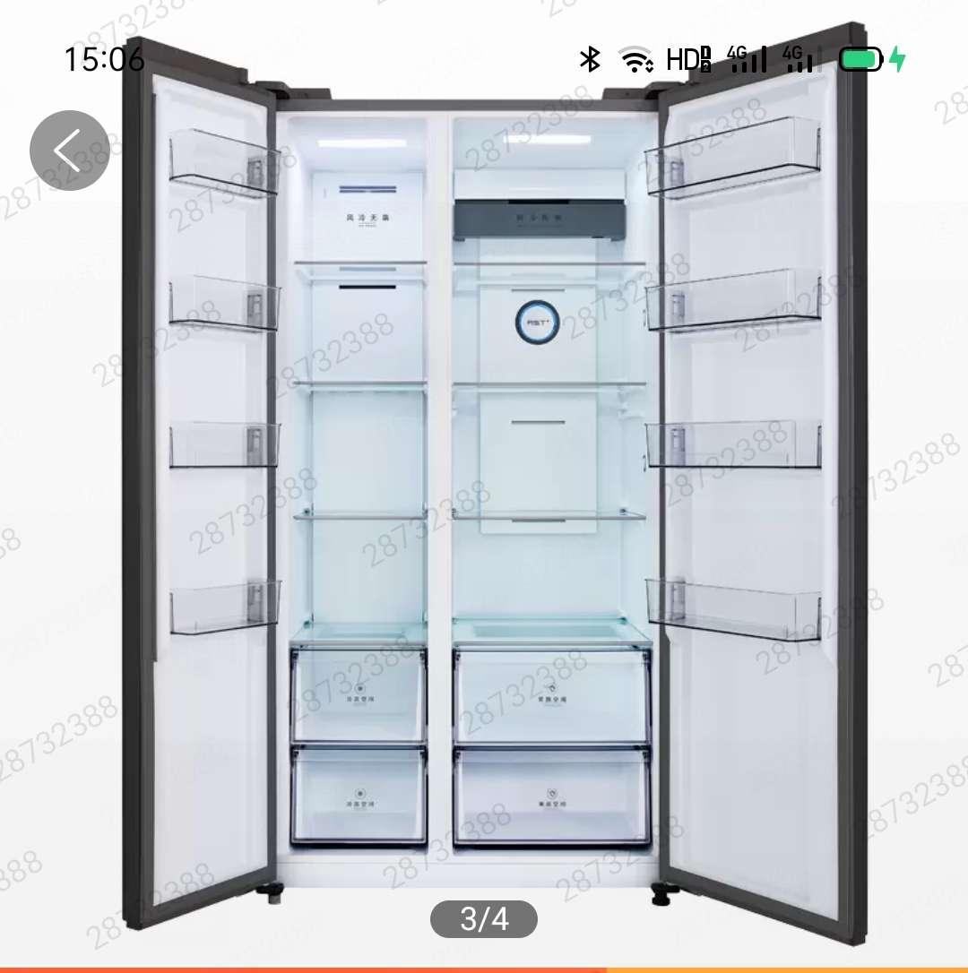 美的冰箱BCD-543WKGPZM布朗棕-星烁