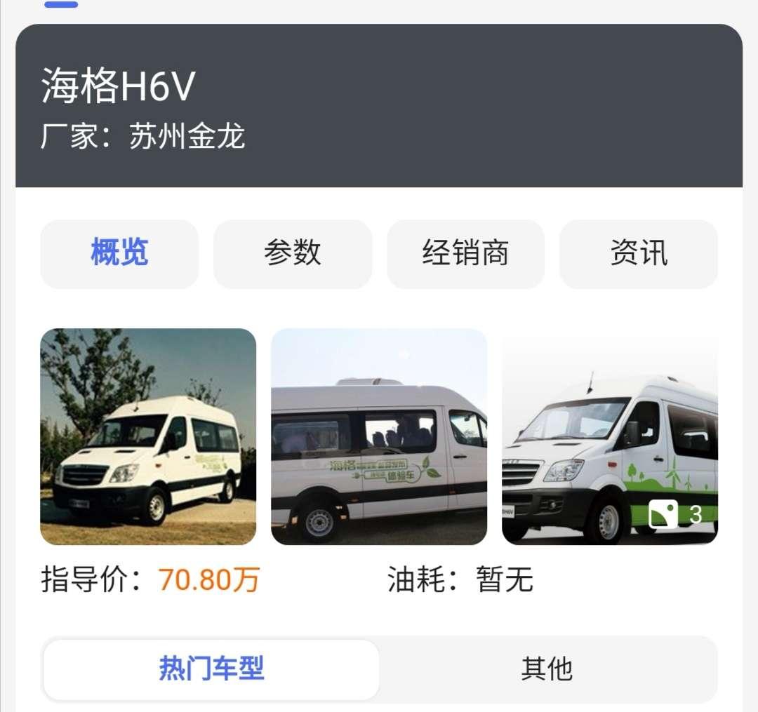 海格H6v新能源电动车