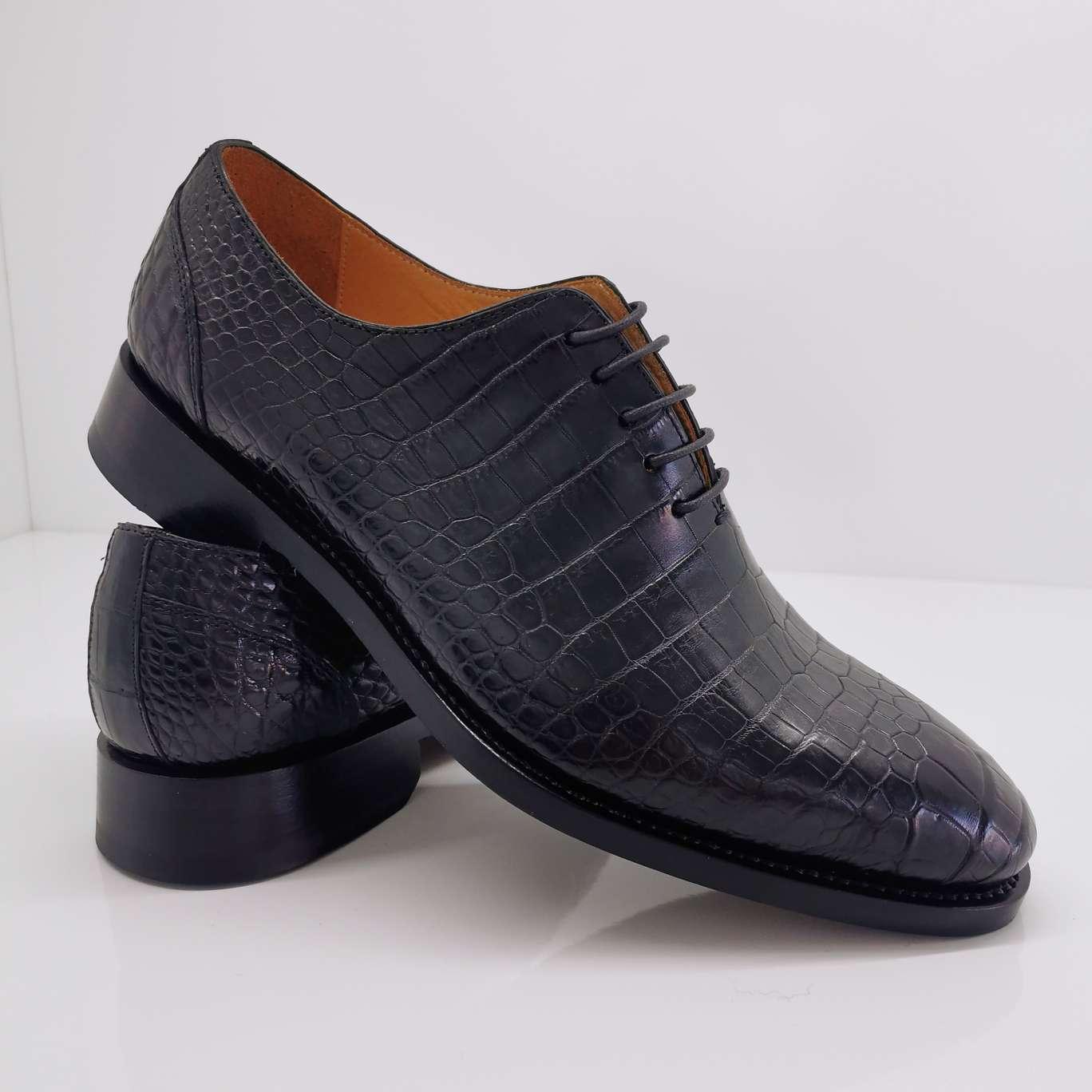 鳄鱼皮男士皮鞋