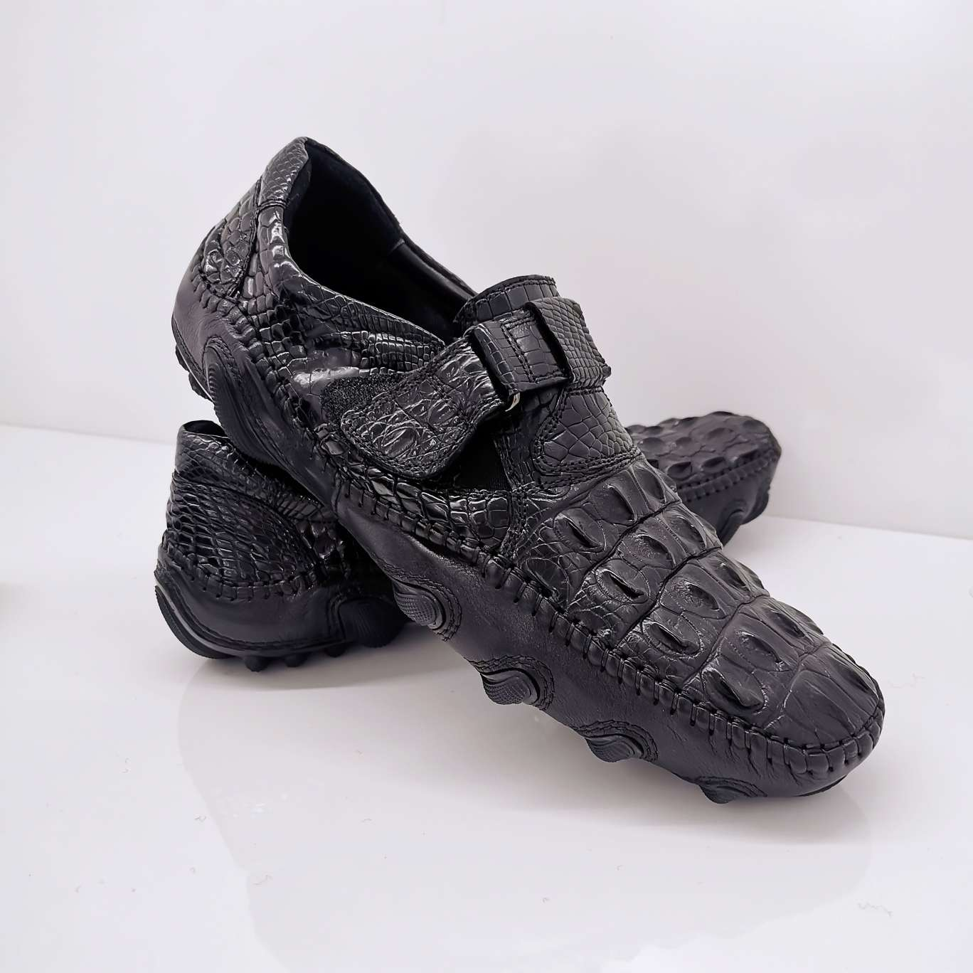 鳄鱼皮八爪鞋