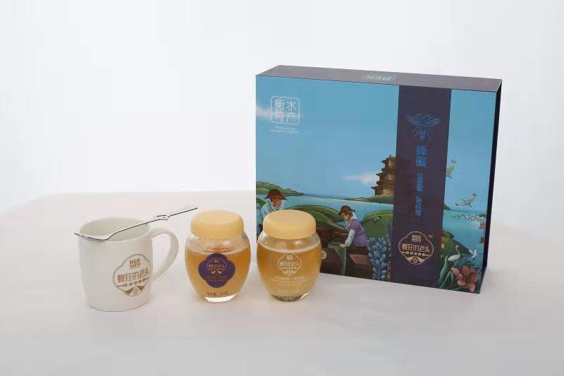疯狂的老头蜂蜜礼盒(236克x2百花蜜,槐花蜜各一瓶)