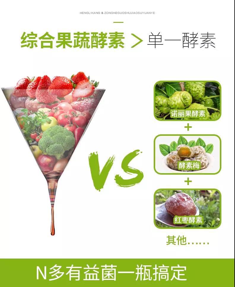 恒利康综合蔬果酵素原液750m水果酵素代餐饮料台湾益生菌酵素饮品